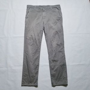 AG Adriano Goldschmied Lux Khaki Tailored Trousers